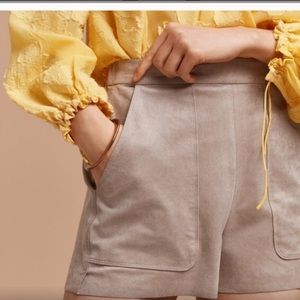 Aritzia Wilfred Bossier faux suede shorts